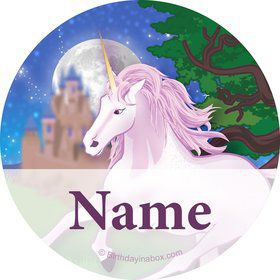 Unicorn Fantasy Personalized Mini Stickers (Sheet of 24)