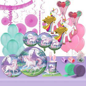 Unicorn Fantasy Ultimate Party Kit (8 Guests)