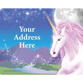 Unicorn Fun Personalized Address Labels (Sheet of 15)