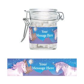 Unicorn Fun Personalized Glass Apothecary Jars (12 Count)