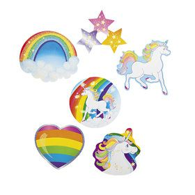 Unicorn Glitter Cutouts (6 Pieces)