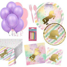 Unicorn Party Essentials Kit (Serves 16)