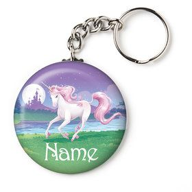"Unicorn Personalized 1"" Mini Key Chain (Each)"