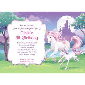Unicorn Personalized Invitation (Each)
