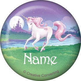 Unicorn Personalized Mini Button (Each)