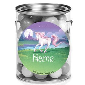 Unicorn Personalized Mini Paint Cans (12 Count)