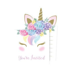 Unicorn Pop-Up Invitations (8)