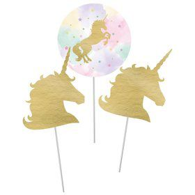 "Unicorn Sparkle 12"" Centerpiece Sticks (3)"