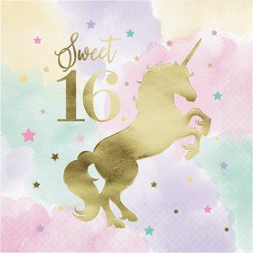 Unicorn Sparkle 16th Birthday Napkin (16)