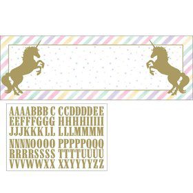 "Unicorn Sparkle 20"" x 60"" Banner"