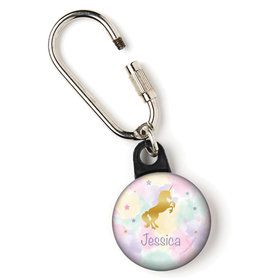 "Unicorn Sparkle Personalized 1"" Carabiner (Each)"