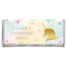 Unicorn Sparkle Personalized Candy Bar Wrapper (Each)