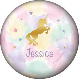 Unicorn Sparkle Personalized Mini Button (Each)