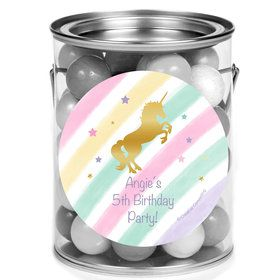 Unicorn Sparkle Personalized Mini Paint Cans (12 Count)