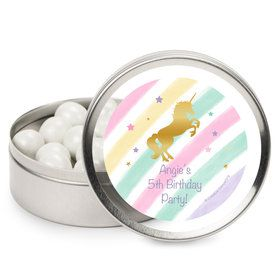 Unicorn Sparkle Personalized Mint Tins (12 Pack)