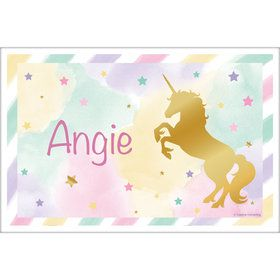 Unicorn Sparkle Personalized Placemat (Each)