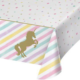 Unicorn Sparkle Plastic Tablecover (1)