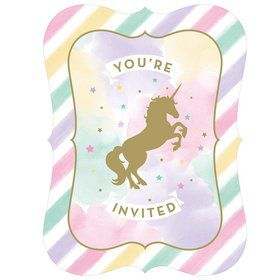 Unicorn Sparkle Postcard Invitation