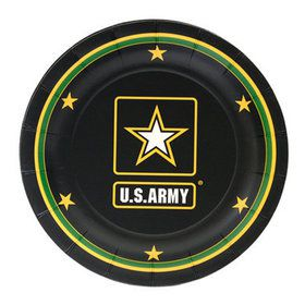 """US Army Plate with Logo -7"""" (8)"""