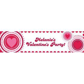Valentine Hearts Personalized Banner (Each)
