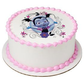 "Vampirina-Sweet As Can Vee 7.5"" Round Edible Cake Topper (Each)"