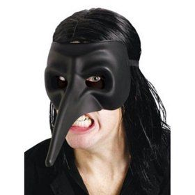 Venetian Raven Black Mask (Adult)