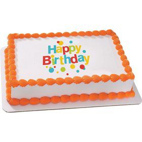 Very Happy Birthday Quarter Sheet Edible Cake Topper (Each)