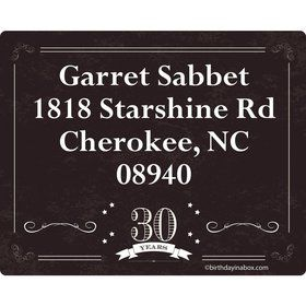 Vintage Dude 30 Personalized Address Labels (Sheet of 15)