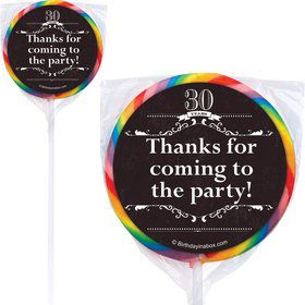 Vintage Dude 30 Personalized Lollipops (12 Pack)
