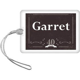 Vintage Dude 40 Personalized Bag Tag (Each)