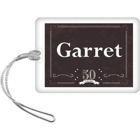 Vintage Dude 50 Personalized Bag Tag (Each)