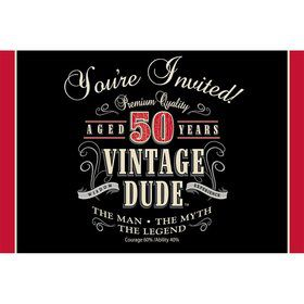 Vintage Dude 50th Invitations (8 Pack)