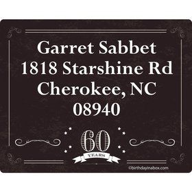 Vintage Dude 60 Personalized Address Labels (Sheet of 15)