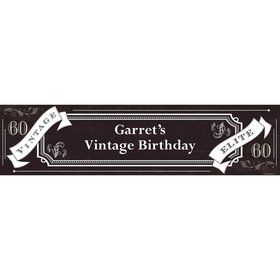 Vintage Dude 60 Personalized Banner (Each)