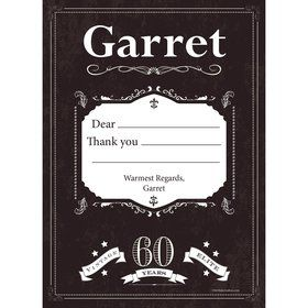 Vintage Dude 60 Personalized Thank You (Each)