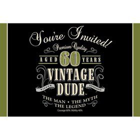 Vintage Dude 60th Invitations (8 Pack)