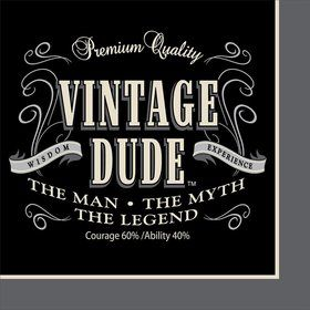 Vintage Dude Beverage Napkins (16 Pack)