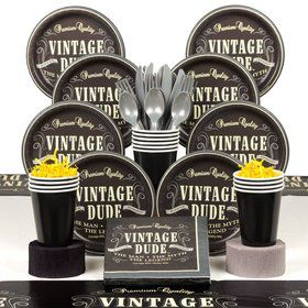 Vintage Dude Deluxe Tableware Kit (Serves 8)