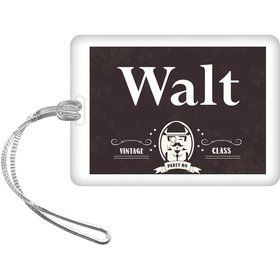 Vintage Dude Personalized Bag Tag (Each)
