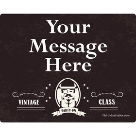 Vintage Dude Personalized Rectangular Stickers (Sheet of 15)