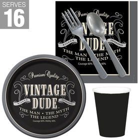 Vintage Dude Snack Pack For 16