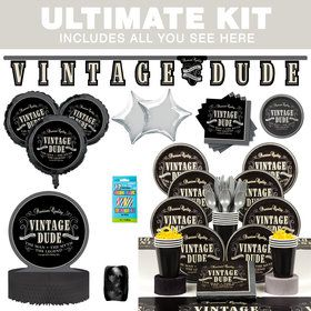 Vintage Dude Ultimate Tableware Kit (Serves 8)