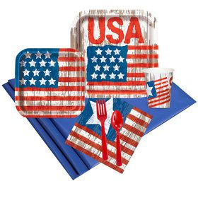 Vintage Patriotic Flag Party Pack (24)