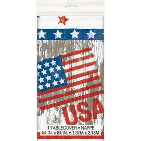 Vintage Patriotic Flag Tablecover