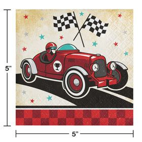 Vintage Race Car Beverage Napkins (16)