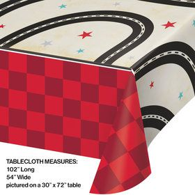 Vintage Road Plastic Table Cover
