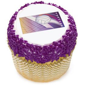 "Volleyball 2"" Edible Cupcake Topper (12 Images)"