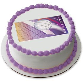 "Volleyball 7.5"" Round Edible Cake Topper (Each)"