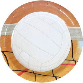 "Volleyball Party Plates - 7"" (8)"