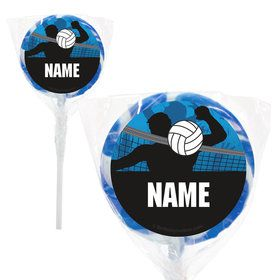 "Volleyball Personalized 2"" Lollipops (20 Pack)"